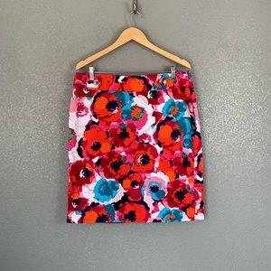 Rafaella floral pencil skirt size 16